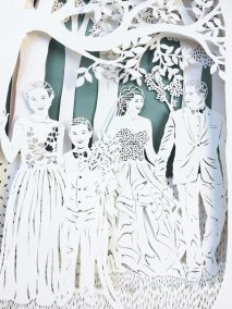 Anniversary Family Wedding - Layered Papercut - Detail Family 3 - Whispering Paper