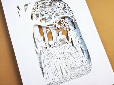 Anniversary Family Wedding - Layered Papercut - Total Side - Whispering Paper