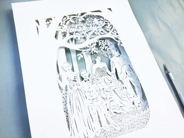Anniversary Family Wedding - Layered Papercut - Total Side Green - Whispering Paper