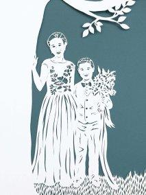 Anniversary Family Wedding - Layered Papercut - Kids - Whispering Paper