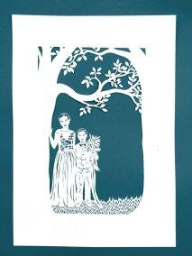 Anniversary Family Wedding - Layered Papercut - Layer 1 - Whispering Paper