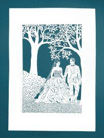 Anniversary Family Wedding - Layered Papercut - Layer 2 - Whispering Paper