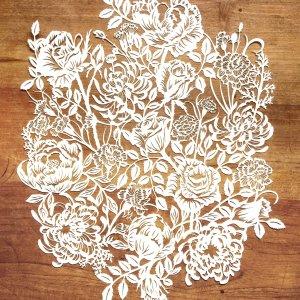 Modulair lasercut - Romantic Flowers - Total