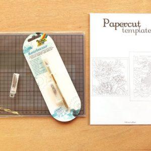 DIY Set Papercutting - A3 - Whispering Paper