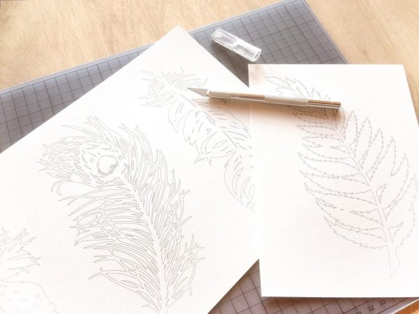DIY Cut out template on table - Whispering Paper