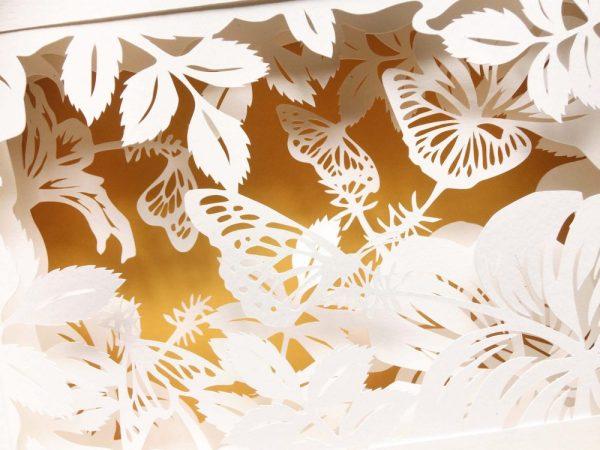 Diorama Nightlight - Butterflies & Hibiscus - Detail Yellow