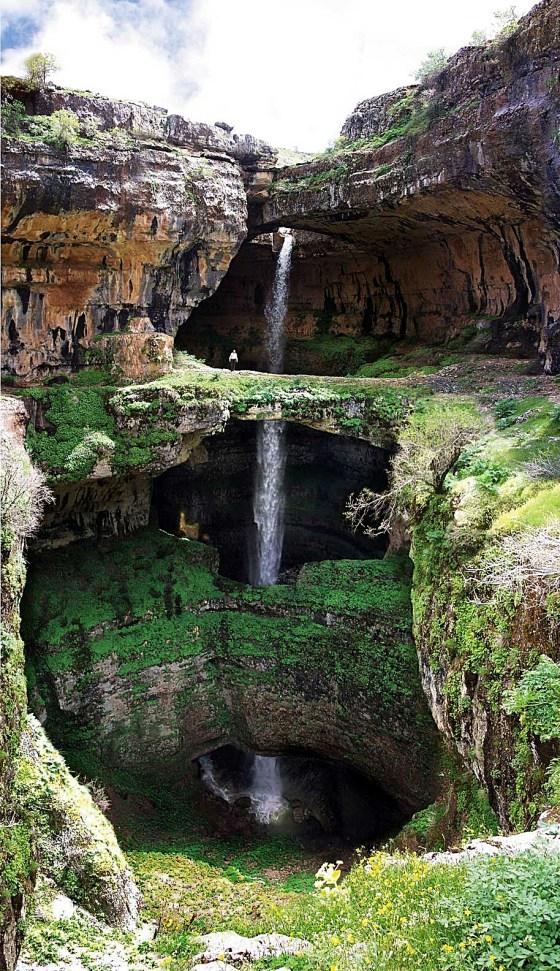 Baatara gorge waterfall Lebanon