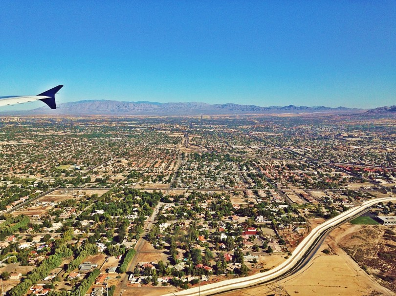 Las Vegas view from the plane