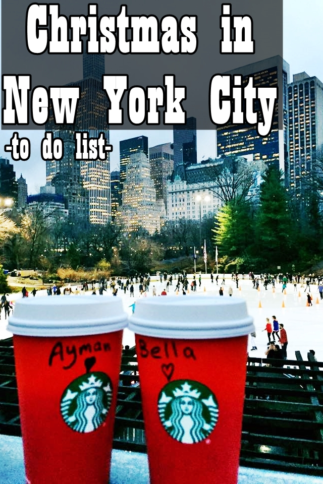 Christmas in NYC. to do list