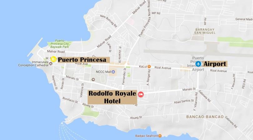 Map of Puerto Princesa