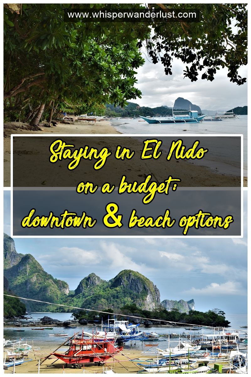 Staying in El Nido on a budget