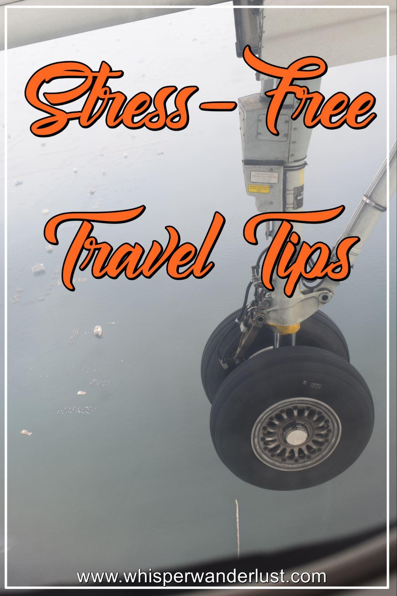 stress free travel tips