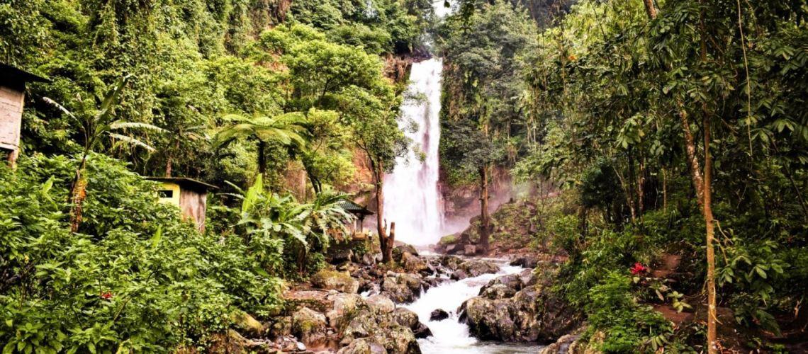 road trip to Gitgit waterfall Bali Indonesia