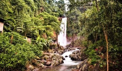 road trip to Gitgit waterfall Bali Indonesia