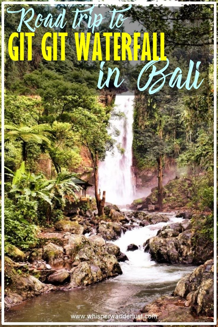 ROAD trip to gitgit waterfall in bali indonesia