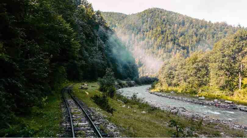 Mocanita Steam train in Viseu de Sus Maramures Romania