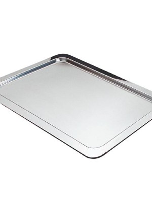 Highly polished 18/10 stainless steel service tray.
