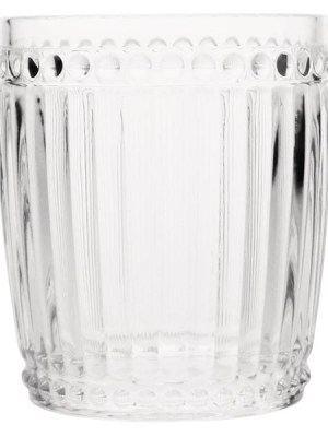 Retro glassware with a ribbed effect. Perfect for trendy bars and restaurants.