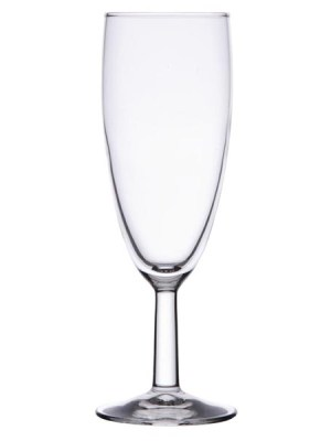 Boule two-piece champagne flute. Ideal for function and pub use.