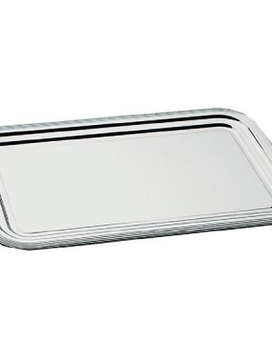 A one way chrome plated tray with embossed edge. 530 x 325mm