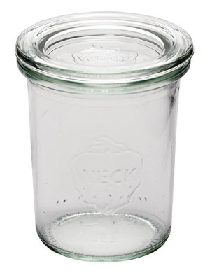Glass preserve- style jars for attractive presentation of starters