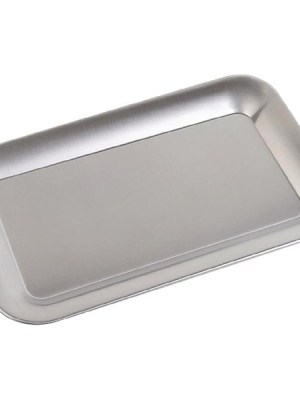 Stainless steel rectangular tray