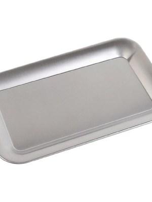 Stainless steel rectangular tray