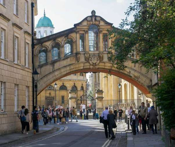 Bridge of Sighs, Sheldonian in background, Oxford