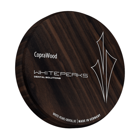 CopraWood Ebenholz 98 Ø x 25 mm white