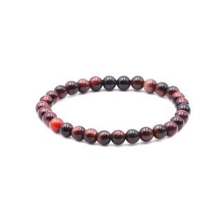 Magnifique Bracelet en Œil de Bœuf avec perles 6mm brillantes