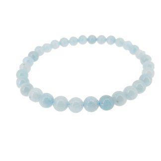 Magnifique Bracelet en Aigue-Marine. White Alpina vous propose la possibilité de lier d'autres charms en Argent 925. N'hésitez-pas.