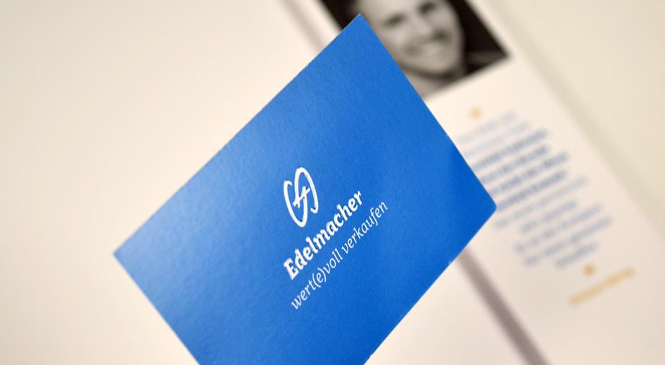 Visitenkarte von Edelmacher – wertevoll verkaufen