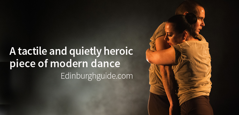 Tactile and quietly heroic piece of modern dance