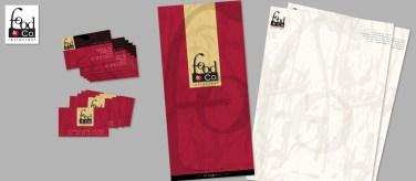 FOOD&CO. per Bingogest SpA : ristorazione (2001 logo & corporate id.)