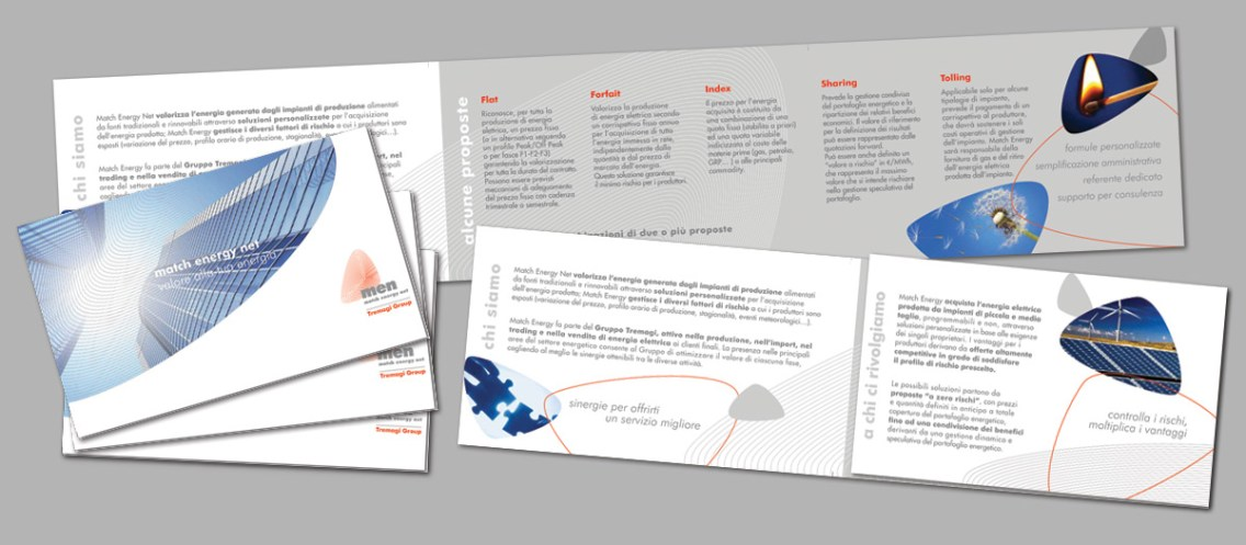 MEN - Match Energy Net per Tremagi Group : societa' fornitrice di energia elettrica (2009 leaflet)