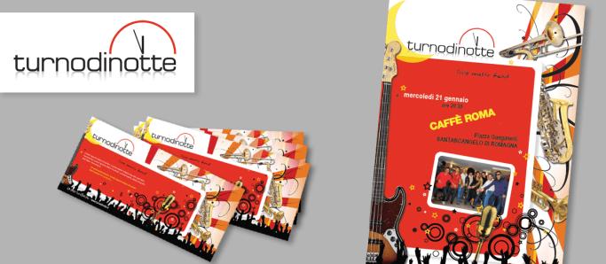 TurnoDiNotte : live music band (2010 logo & corporate id.)