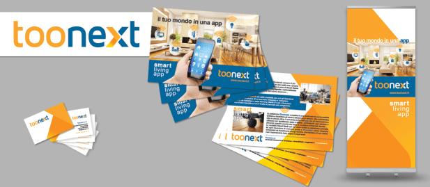 TOONEXT - 2019 restyling logo & corporate id. per evento fieristico (Piattaforma Smart Home System & IoT)
