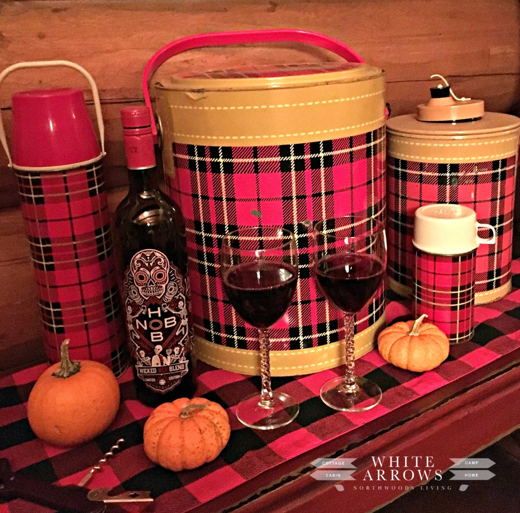 Vintage, Scotch Cooler, Plaid thermos, thermos collection