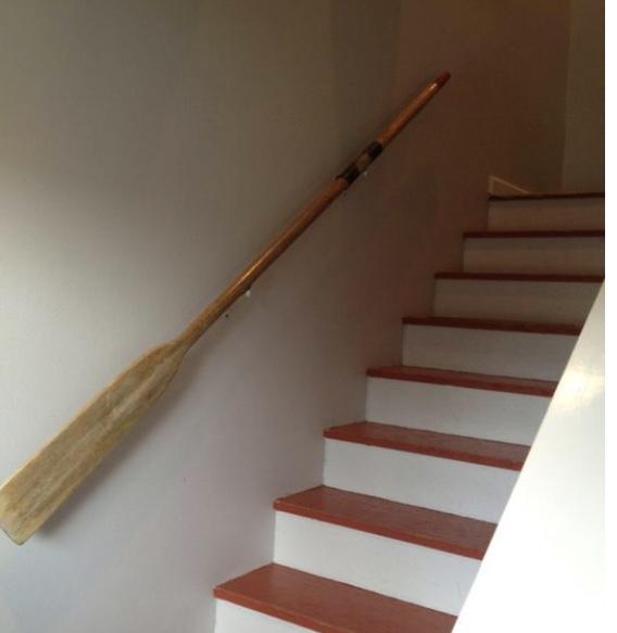 paddle, oar, oar stair handrail, handrail