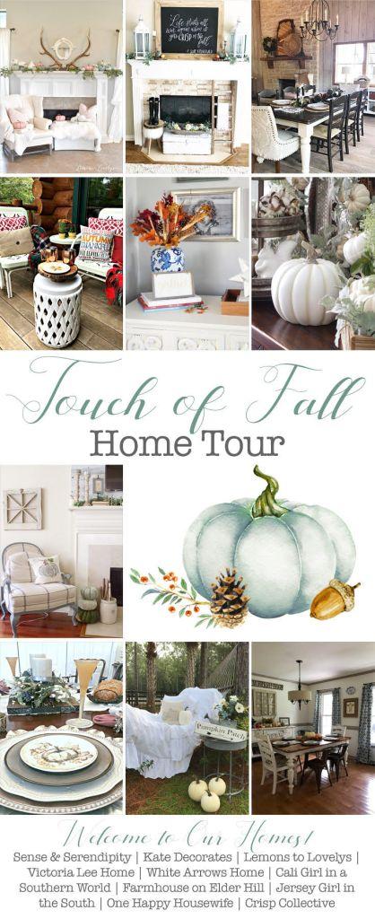 Fall Home Tour, Autumn Home Tour, Touch of Fall Home Tour, Fall Decor, Home Decor Bloggers