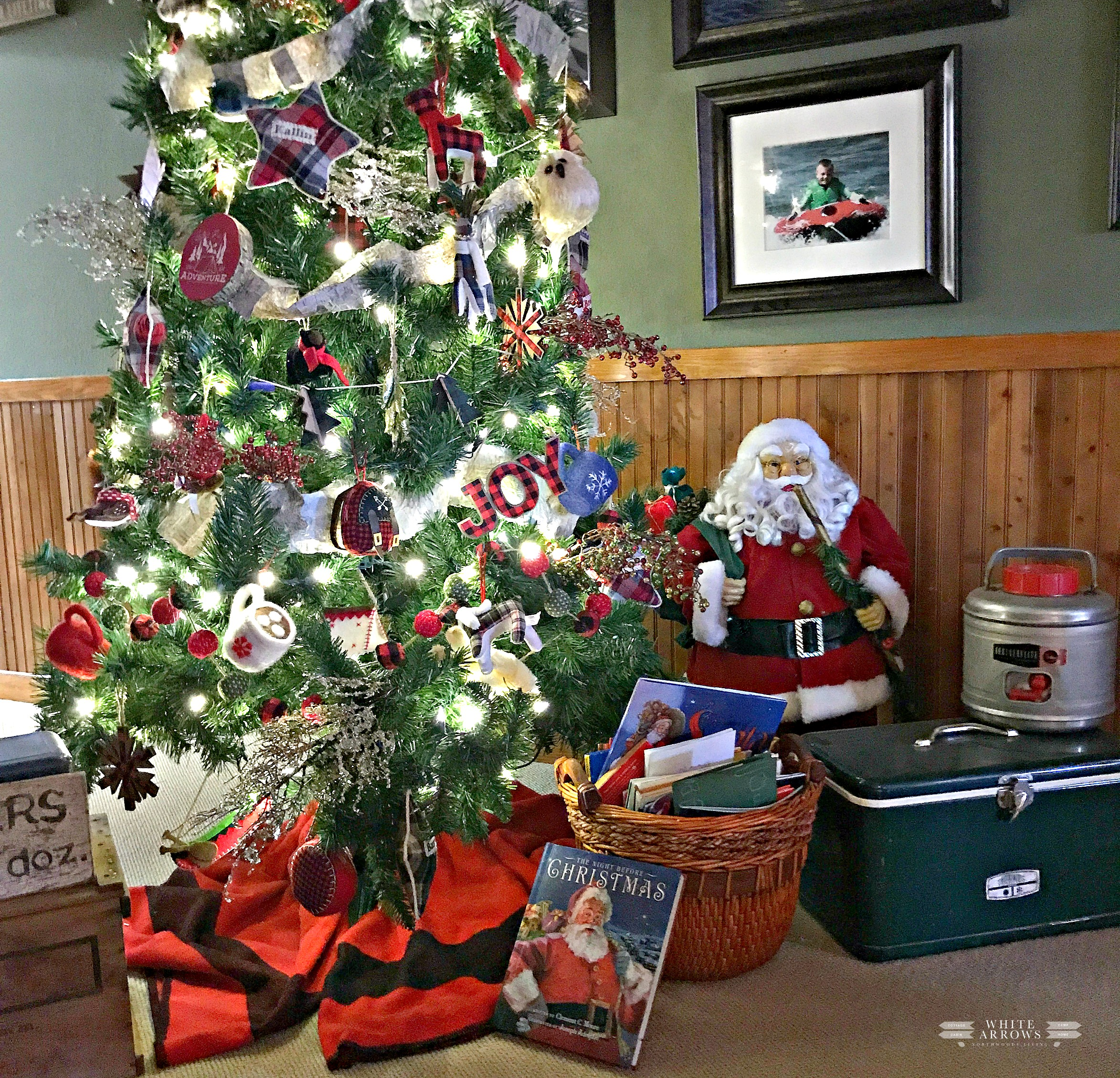 Holiday Home Tour Blog Hop- Christmas at the Cabin