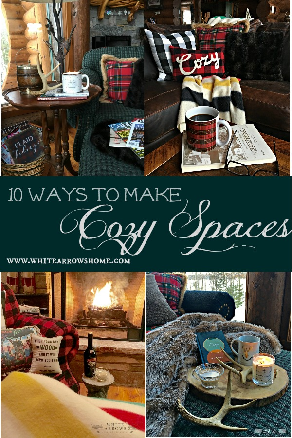 cozy, cozy spaces, cozy cabin, winter decor