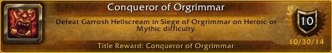 Conqueror of Orgrimmar