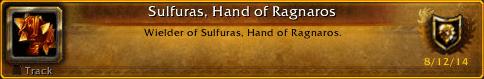 Sulfuras, Hand Of Ragnaros