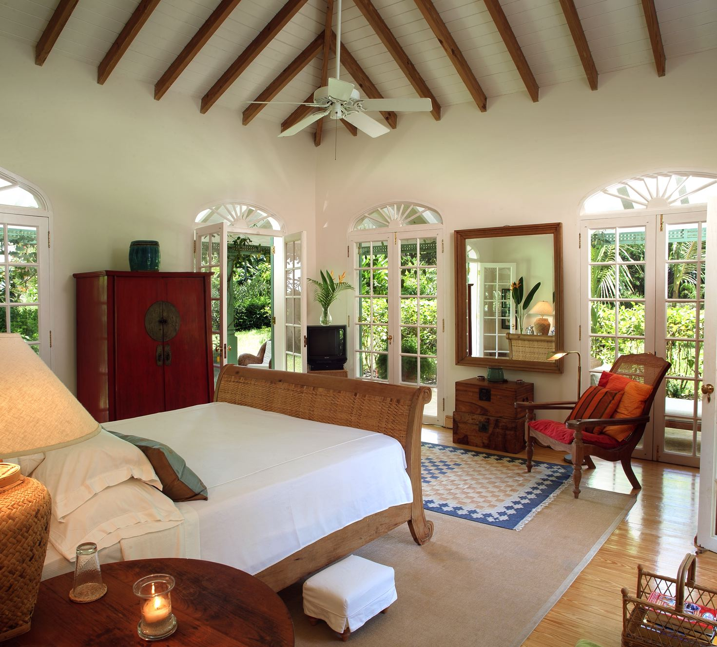 You can add some ethnic indian statues. Fustic House in Barbados, Caribbean - White Blancmange