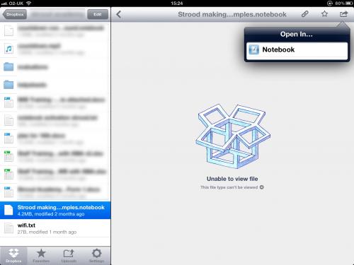 Smart Notebook in Dropbox