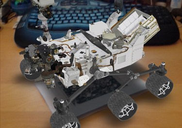 Augmented Reality 3D Spacecraft on your IOS device