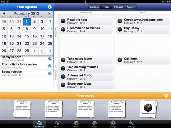 Beesy – Note taking app for the iPad