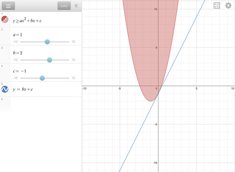 Desmos Graphing Calculator App for iPad
