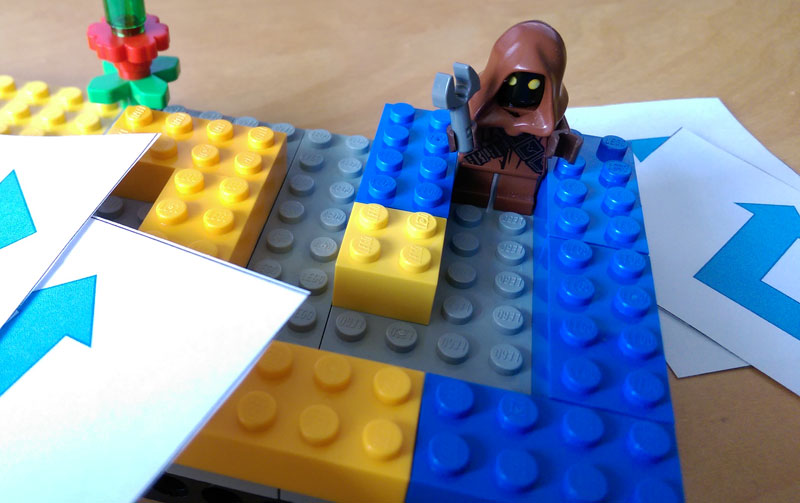 Lego Minifig maze